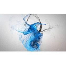 black and blue smoke with...