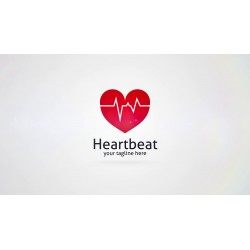 heart logo with heartbeat...