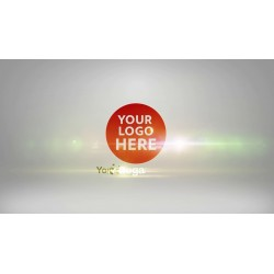 red logo with animation of...