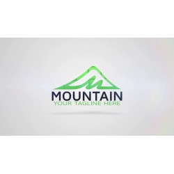 mountain as logo with...