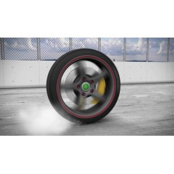 Tire spins with logo and...