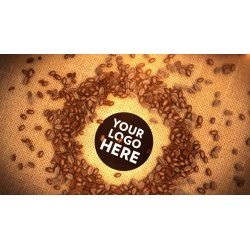 Coffee bean falls on your...