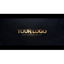 Golden animated logo with...