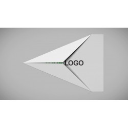 Paper Plane Logo Flying Away